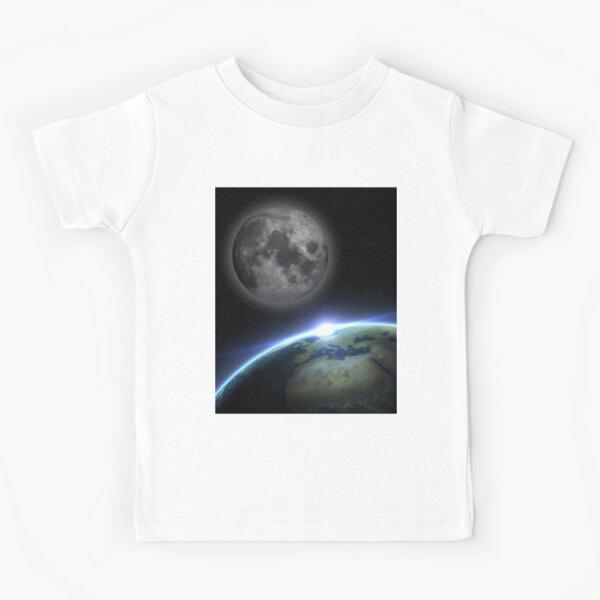 Earth and moon Kids T-Shirt
