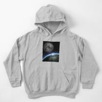 Earth and moon Kids Pullover Hoodie