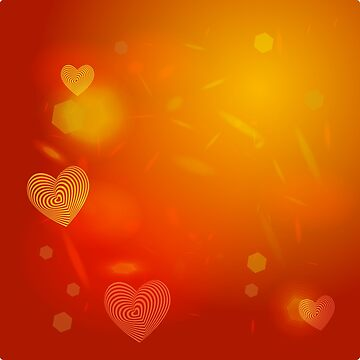 Abstract red Heart. Valentine's day card by EkaterinaP