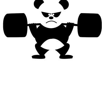 Weightlifting Panda T-shirt by 3familyllc