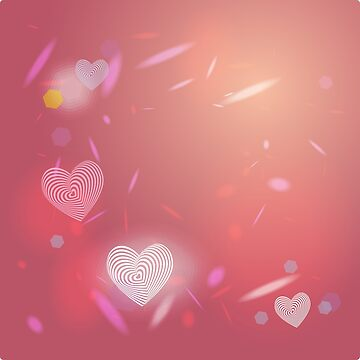 Abstract pink background, light glare. Heart. Valentines day card.  by EkaterinaP