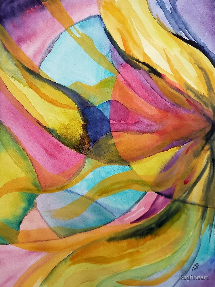 Sun Dance Abstract by ksgfineart