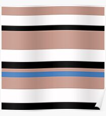 Horizontal stripes are stylish in color Poster