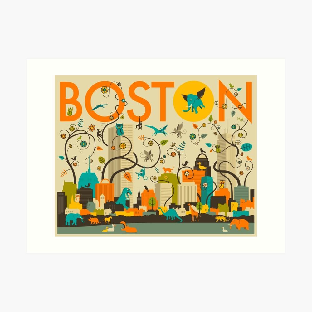 WILD BOSTON Art Print