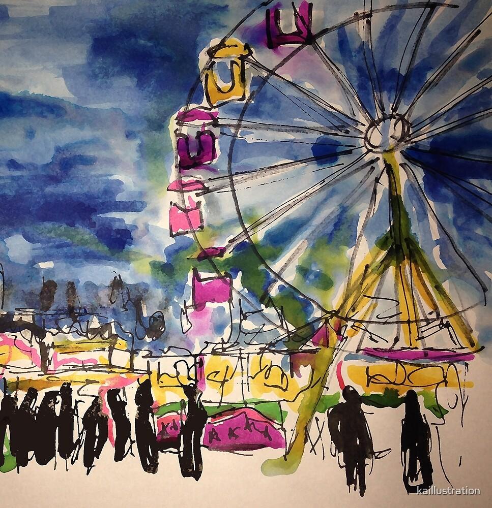 Ferris Wheel by kaillustration