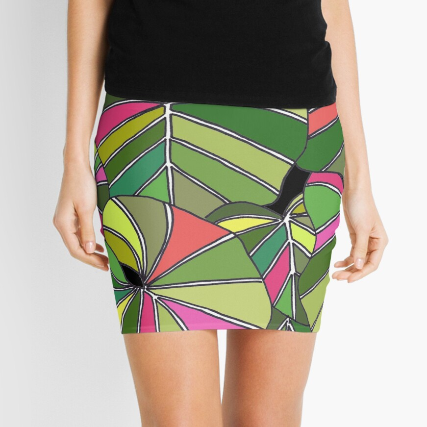 Psychedelic Summer Mini Skirt
