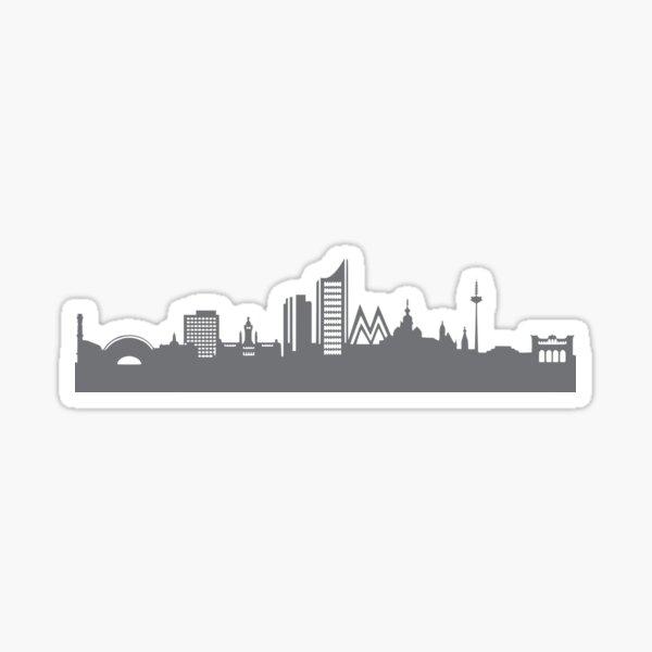 Leipzig in gray Sticker