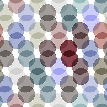 Polka dot pattern. dot on white background by EkaterinaP