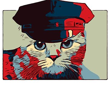 Pop Art Bad Police Cat by House-of-Roc