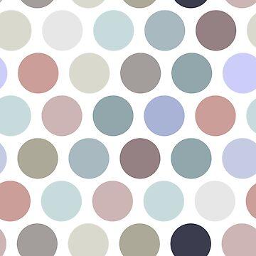 Polka dot seamless pattern. Pastel color dot on white background.  by EkaterinaP