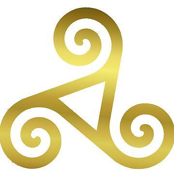 Celtic Spiral - Golden. by timothybeighton