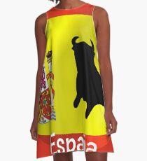 Spanish Flag With Bull A-Line Dress