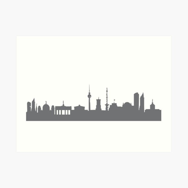 Berlin in gray Art Print