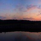 Weiss Dam Sunset by Linda Mathews