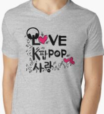 KPOP SARANG Men's V-Neck T-Shirt