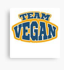 team vegan Canvas Print