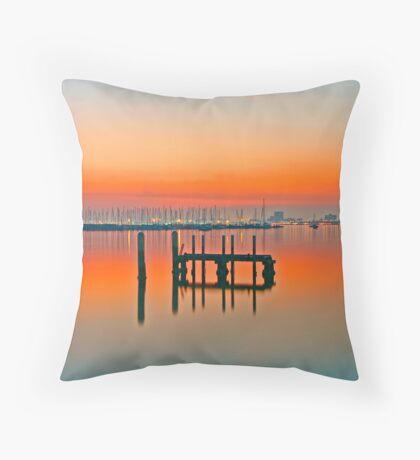 St Kilda sunset Throw Pillow