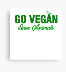 go vegan Canvas Print