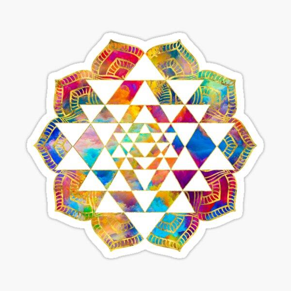 Hindu New Age Durga Yantra Full Color Vinyl Sticker Decal