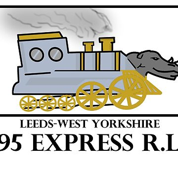 Leeds Yorkshire rugby train rhinoceros rhinos vintage locomotive by GarciaPayan