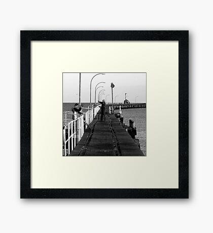 Busselton crabbing Framed Print
