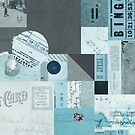 Vintage Collage 1 - Blue by MikeHindle