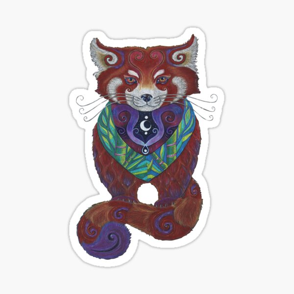 Red Panda Totem Sticker