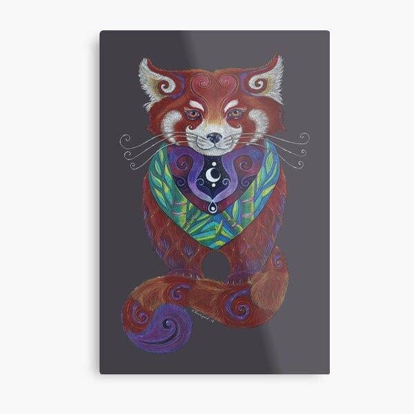 Red Panda Totem Metal Print