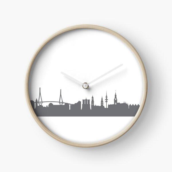 Hamburg in gray Clock