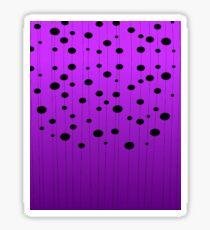 Black ovals, dots on strings purple pattern Sticker