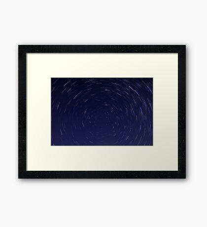 Star Trails  Framed Print