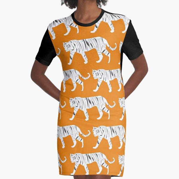 Tiger Print Graphic T-Shirt Dress