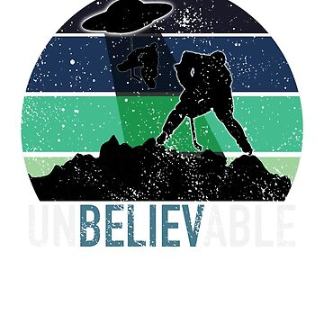 Hockey Player UFO Alien Abduction T-Shirt Unbelievable Goalie  by hockeymomnation