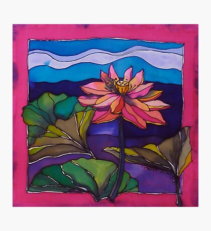 Lotus: Kakadu. Silk painting 2006 Ⓒ Photographic Print