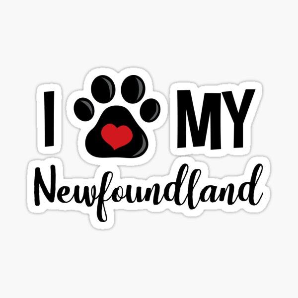 I Love My Newfoundland Sticker
