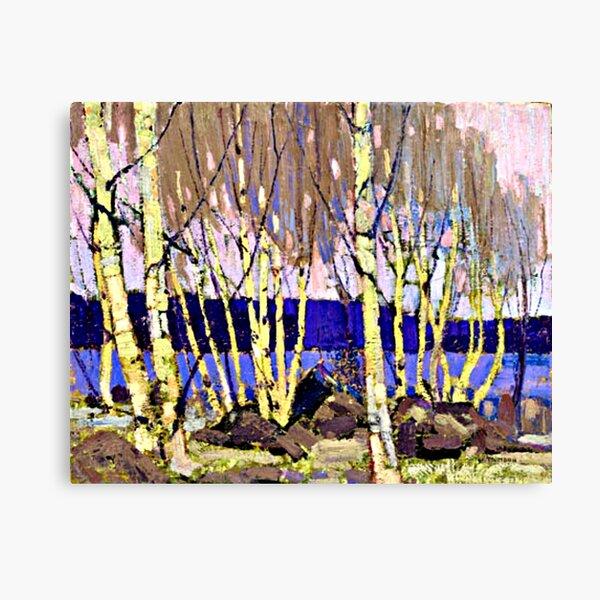 Tom Thomson - Evening, Canoe Lake, famous artwork Canvas Print
