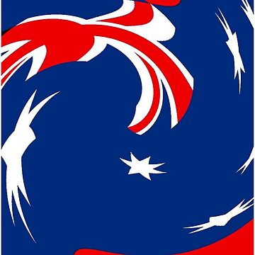 AUSTRALIAN FLAG : Abstract Print by posterbobs