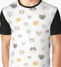 Cat faces Graphic T-Shirt
