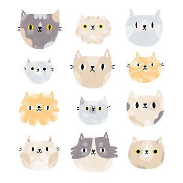 Cat faces by stolenpencil