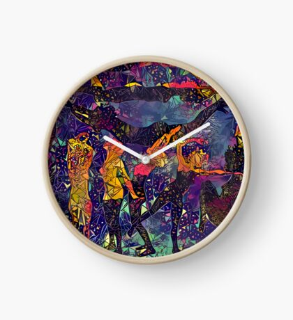 Abstract Summer Pack Clock