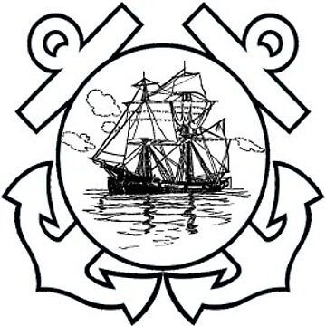 Sailing Ship Man O War and Anchors Sticker by henrytheartist