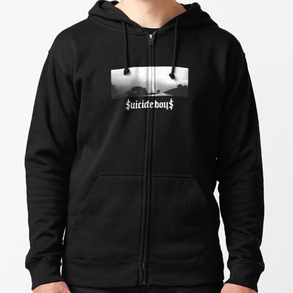 Suicide Boys 24 (White Letters) Zipped Hoodie