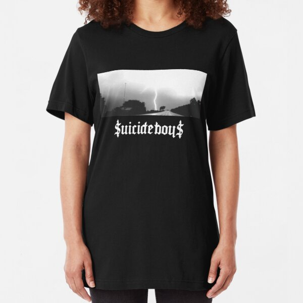 Suicide Boys 24 (White Letters) Slim Fit T-Shirt