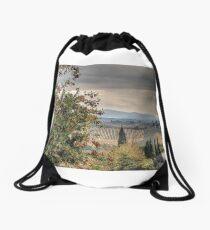 Tuscan Countryside Drawstring Bag