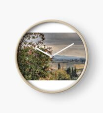 Tuscan Countryside Clock