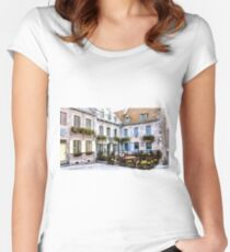 Place Royale - Old Quebec City Women's Fitted Scoop T-Shirt