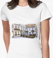 Place Royale - Old Quebec City Women's Fitted T-Shirt