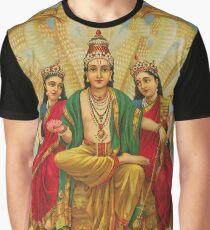 Art : Raja Ravi Varma - Sesha Narayana Graphic T-Shirt