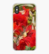 Red Lilies iPhone Case