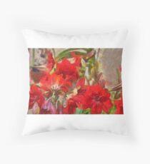 Red Lilies Floor Pillow